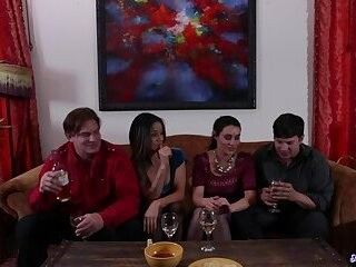 Nasty wife swap fantasy fuck orgy