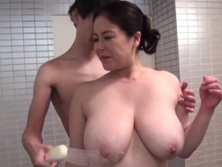 Strong hardcore sex for the busty mature Japanese mom