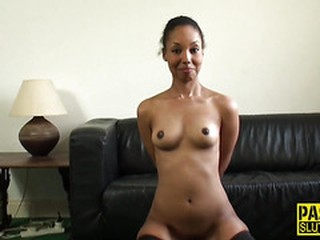 Dominated ebony kinky sub