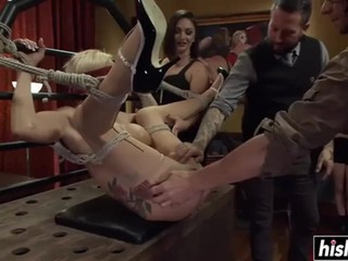 Horny sluts enjoy some hardcore BDSM